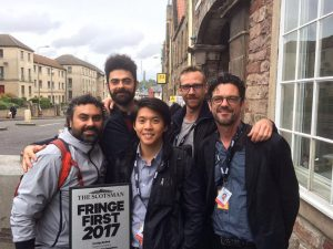 Theatre Conspiracy's Foreign Radical won a Scotsman Fringe First Award.