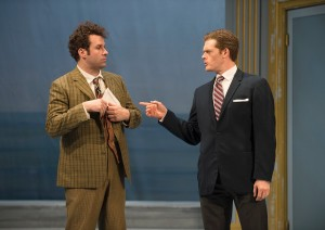 With Martin Stubbers (R), Andrew McNee made comic magic in One Man, Two Guvnors.