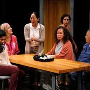 Pamela Mala Sinha's script for Happy Place is receiving an excellent production at the Firehall Arts Centre.