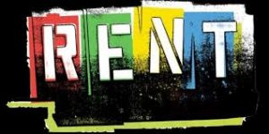 This is the poster for Renegade Productions mounting of the rock musical Rent.