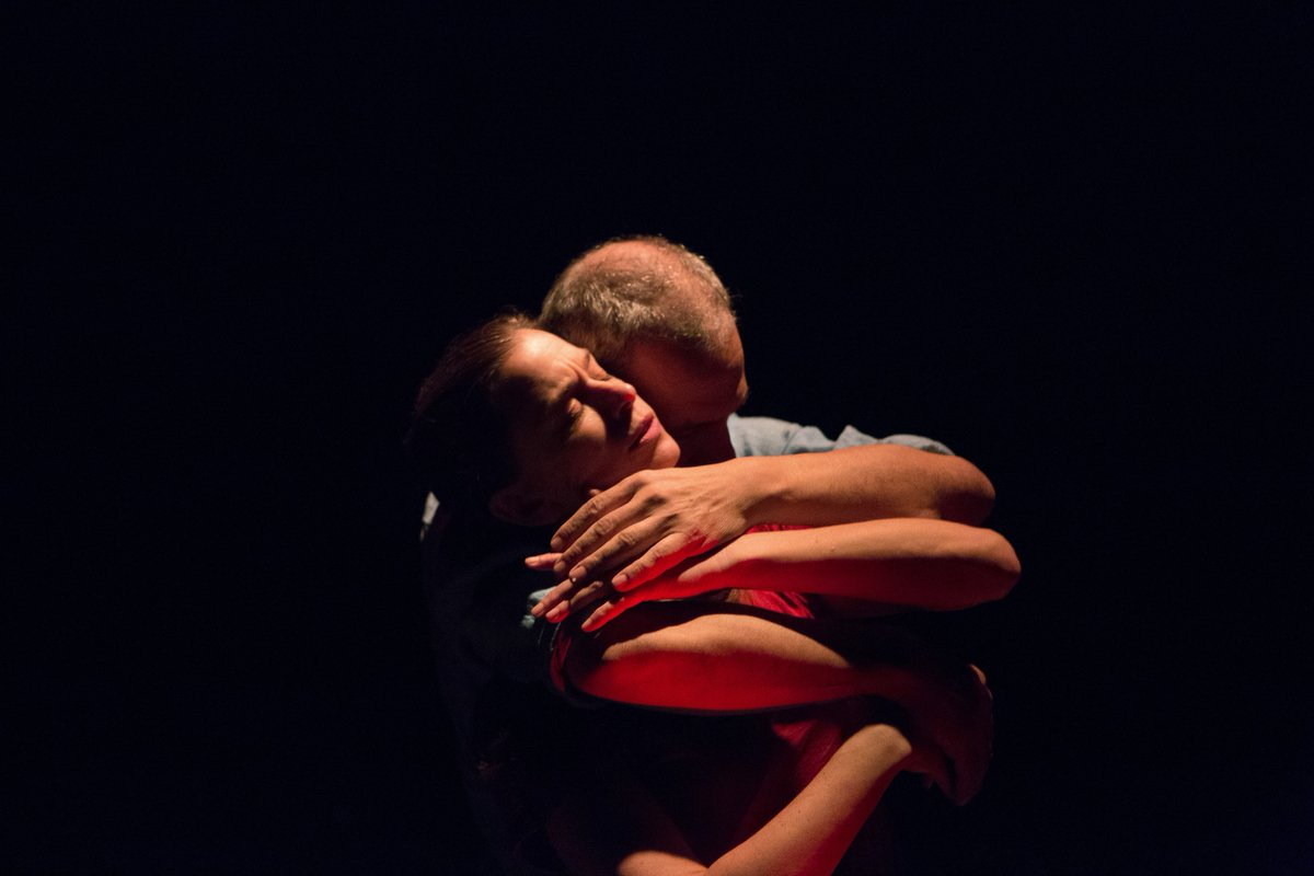 Kim Collier and Daniel Brooks embrace in 40 Days and 40 Nights.