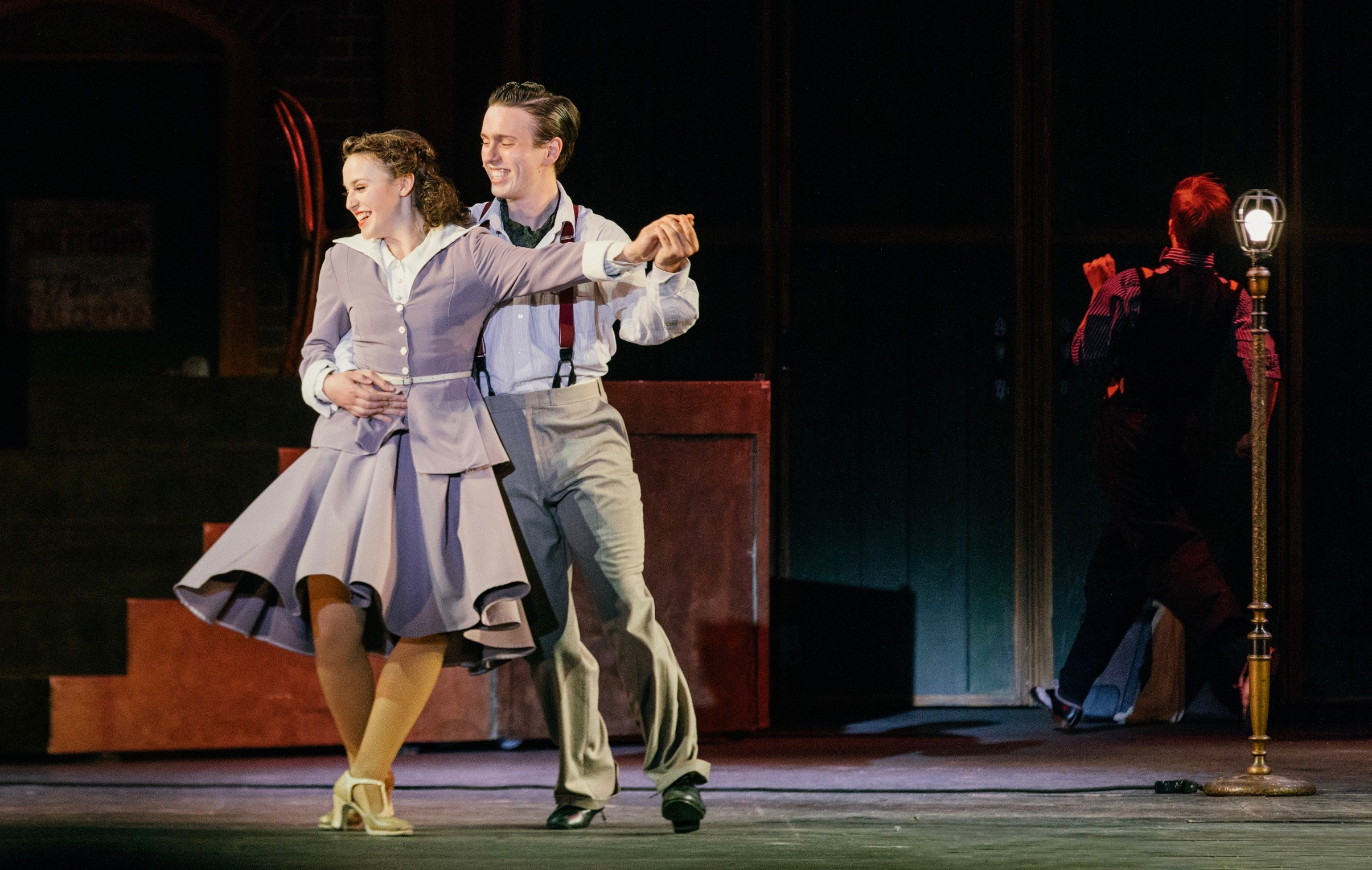Paige Fraser and Blake Sartin dance in the Theatre Under the Stars production of 42nd Street.