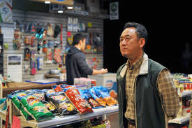 Lee Shorten and James Yi are in Kim's Convenience at Pacific Theatre.