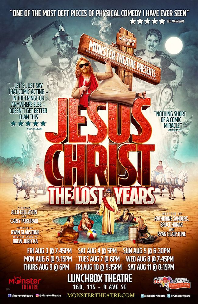 Monster Theatre is presenting Jesus Christ: The Lost Years at the Havana Theatre.