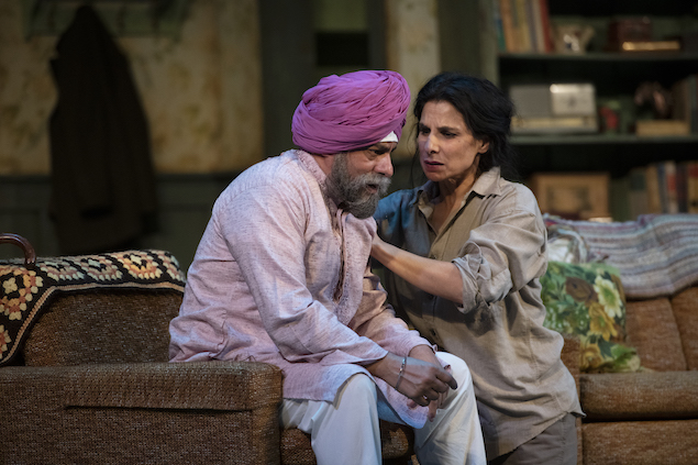 Loveleen comforts Kesur in Sarena Parmar's The Orchard (After Chekhov)