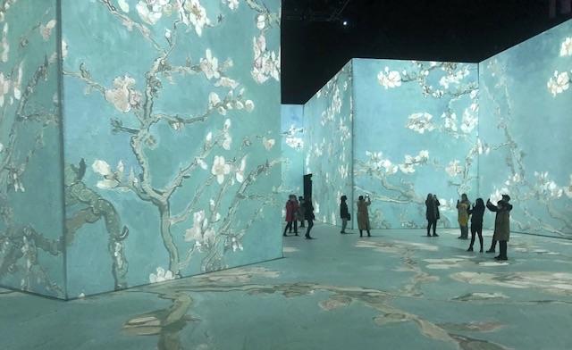 iPhone photo of the installation Imagine Van Gogh
