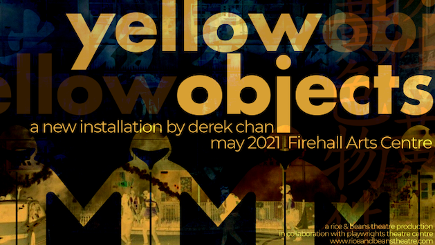 Poster for Derek Chan's yellow objects